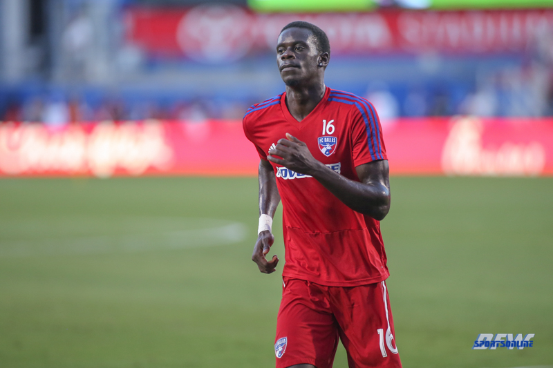 OCTOBER 6, 2018: Dominique Badji during the MLS game between FC Dallas and Orlando City SC on October 6, 2018, at Toyota Stadium in Frisco, TX. (Photo by George Walker/DFWsportsonline)