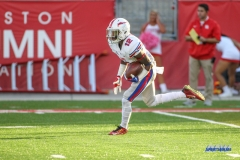 HOUSTON, CA - OCTOBER 07: Southern Methodist Mustangs defensive back Kevin Johnson (12) during the game between SMU and Houston on October 7, 2017, at TDECU Stadium in Houston, TX. (Photo by George Walker/DFWsportsonline)