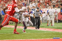 HOUSTON, CA - OCTOBER 07: Southern Methodist Mustangs running back Xavier Jones (5) during the game between SMU and Houston on October 7, 2017, at TDECU Stadium in Houston, TX. (Photo by George Walker/DFWsportsonline)