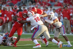 HOUSTON, CA - OCTOBER 07: Southern Methodist Mustangs defensive lineman Demerick Gary (10) during the game between SMU and Houston on October 7, 2017, at TDECU Stadium in Houston, TX. (Photo by George Walker/DFWsportsonline)