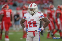 HOUSTON, CA - OCTOBER 07: Southern Methodist Mustangs wide receiver Myron Gailliard (22) during the game between SMU and Houston on October 7, 2017, at TDECU Stadium in Houston, TX. (Photo by George Walker/DFWsportsonline)