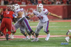 HOUSTON, CA - OCTOBER 07: Southern Methodist Mustangs offensive lineman Chad Pursley (57) during the game between SMU and Houston on October 7, 2017, at TDECU Stadium in Houston, TX. (Photo by George Walker/DFWsportsonline)