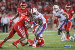 HOUSTON, CA - OCTOBER 07: Southern Methodist Mustangs running back Ke'Mon Freeman (13) during the game between SMU and Houston on October 7, 2017, at TDECU Stadium in Houston, TX. (Photo by George Walker/DFWsportsonline)