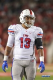 HOUSTON, CA - OCTOBER 07: Southern Methodist Mustangs defensive lineman Tyeson Neals (13) looks over the offense during the game between SMU and Houston on October 7, 2017, at TDECU Stadium in Houston, TX. (Photo by George Walker/Icon Sportswire)