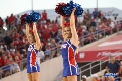 HOUSTON, CA - OCTOBER 07: SMU cheerleaders during the game between SMU and Houston on October 7, 2017, at TDECU Stadium in Houston, TX. (Photo by George Walker/Icon Sportswire)