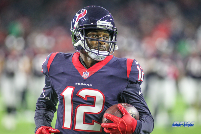 HOUSTON, TX - OCTOBER 08: Houston Texans wide receiver Bruce Ellington (12) during the game between the Houston Texans and Kansas City Chiefs on October 8, 2017, at NRG Stadium in Houston, TX. (Photo by George Walker/DFWsportsonline)