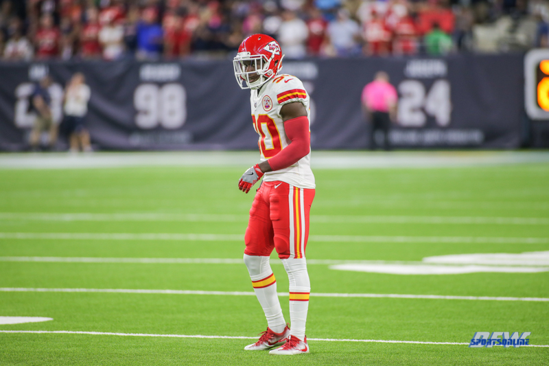 HOUSTON, TX - OCTOBER 08: Kansas City Chiefs defensive back Steven Terrell (30) during the game between the Houston Texans and Kansas City Chiefs on October 8, 2017, at NRG Stadium in Houston, TX. (Photo by George Walker/DFWsportsonline)