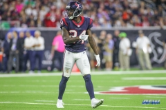 HOUSTON, TX - OCTOBER 08: Houston Texans cornerback Johnathan Joseph (24) during the game between the Houston Texans and Kansas City Chiefs on October 8, 2017, at NRG Stadium in Houston, TX. (Photo by George Walker/DFWsportsonline)