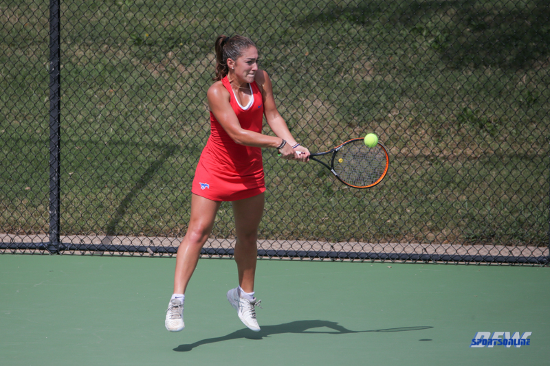 DALLAS, TX - OCTOBER 13: Charline Anselmo of SMU during the ITA Regional tournament on October 13, 2017, at the Bayard H. Friedman Tennis Center in Fort Worth, TX. (Photo by George Walker/DFWsportsonline)