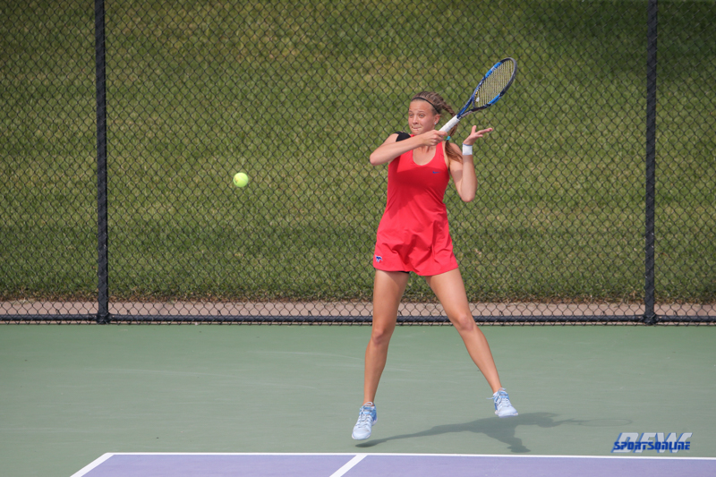 DALLAS, TX - OCTOBER 13: Liza Buss of SMU during the ITA Regional tournament on October 13, 2017, at the Bayard H. Friedman Tennis Center in Fort Worth, TX. (Photo by George Walker/DFWsportsonline)