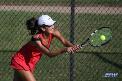 DALLAS, TX - OCTOBER 13: Tiffany Hollebeck of SMU during the ITA Regional tournament on October 13, 2017, at the Bayard H. Friedman Tennis Center in Fort Worth, TX. (Photo by George Walker/DFWsportsonline)