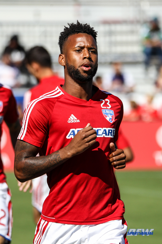 OCTOBER 22, 2017: FC Dallas midfielder Kellyn Acosta (23) during the MLS game between FC Dallas and LA Galaxy on October 22, 2017, at Toyota Stadium in Frisco, TX. (Photo by George Walker/DFWsportsonline)