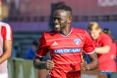 OCTOBER 22, 2017: FC Dallas forward Roland Lamah (20) celebrates a goal during the MLS game between FC Dallas and LA Galaxy on October 22, 2017, at Toyota Stadium in Frisco, TX. (Photo by George Walker/DFWsportsonline)