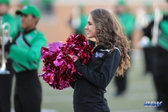 DENTON, TX - OCTOBER 28: North Texas Dancer during the game between the North Texas Mean Green and Old Dominion Monarchs on October 28, 2017, at Apogee Stadium in Denton, Texas. (Photo by George Walker/DFWsportsonline)