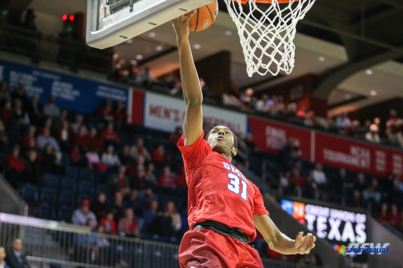 DALLAS, TX - NOVEMBER 10: Southern Methodist Mustangs guard Jimmy Whitt (31) goes to the basket during the men's basketball game between SMU and UMBC on November 10, 2017, at Moody Coliseum, in Dallas, TX. (Photo by George Walker/DFWsportsonline)