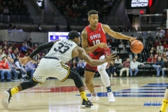 DALLAS, TX - NOVEMBER 10: Southern Methodist Mustangs guard Jarrey Foster (10) during the men's basketball game between SMU and UMBC on November 10, 2017, at Moody Coliseum, in Dallas, TX. (Photo by George Walker/DFWsportsonline)