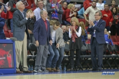 UNIVERSITY PARK, TX - NOVEMBER 10: Former President George W. Bush attends the men's basketball game between SMU and UMBC on November 10, 2017, at Moody Coliseum in Dallas, TX.(Photo by George Walker/Icon Sportswire)