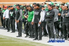 Denton, TX - November 11: North Texas Mean Green coaching staff during the game between the North Texas Mean Green and UTEP Miners (Photo by Mark Woods/DFWsportsonline)