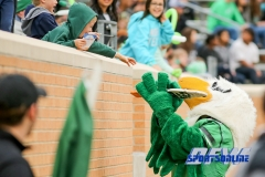 Denton, TX - November 11: North Texas Mean Green mascot Scrappy the Eagle during the game between the North Texas Mean Green and UTEP Miners (Photo by Mark Woods/DFWsportsonline)