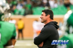 Denton, TX - November 11: North Texas Mean Green head coach Seth Littrell during the game between the North Texas Mean Green and UTEP Miners (Photo by Mark Woods/DFWsportsonline)