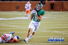 Denton, TX - November 11: North Texas Mean Green wide receiver Rico Bussey, Jr. (8) during the game between the North Texas Mean Green and UTEP Miners (Photo by Mark Woods/DFWsportsonline)