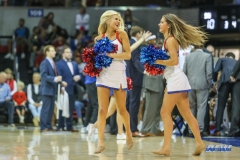 DALLAS, TX - NOVEMBER 12: SMU Pom Squad members during the men's basketball game between SMU and ULM on November 12, 2017, at Moody Coliseum, in Dallas, TX. (Photo by George Walker/DFWsportsonline)
