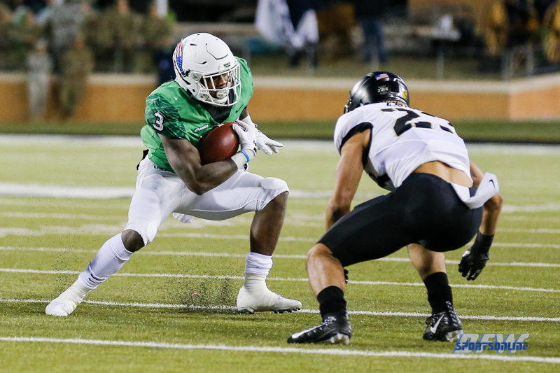 Denton, TX - November 18: North Texas running back Jeffery Wilson (3) during the game between the North Texas Mean Green and Army West Point Black Knights (Photo by Mark Woods/DFWsportsonline)