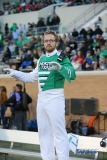 Denton, TX - November 18: Green Brigade Marching Band drum major Patrick Byars during the game between the North Texas Mean Green and Army West Point Black Knights (Photo by Mark Woods/DFWsportsonline)