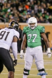 Denton, TX - November 18: North Texas left guard Elex Woodworth (77) during the game between the North Texas Mean Green and Army West Point Black Knights (Photo by Mark Woods/DFWsportsonline)