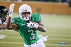 Denton, TX - November 18: North Texas running back Jeffery Wilson (3) scoring a touchdown during the game between the North Texas Mean Green and Army West Point Black Knights (Photo by Mark Woods/DFWsportsonline)