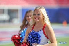 DALLAS, TX - NOVEMBER 25: SMU Pom Squad member during the game between SMU and Tulane on November 25, 2017, at Gerald J. Ford Stadium in Dallas, TX. (Photo by George Walker/DFWsportsonline)