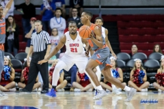 UNIVERSITY PARK, TX - NOVEMBER 28: UT Rio Grande Valley Vaqueros guard Moe McDonald (10) goes to the basket during the game between SMU and UT Rio Grande Valley on November 28, 2017 at Moody Coliseum in Dallas, TX. (Photo by George Walker/Icon Sportswire)