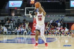 UNIVERSITY PARK, TX - NOVEMBER 28: Southern Methodist Mustangs guard Jarrey Foster (10) shoots during the game between SMU and UT Rio Grande Valley on November 28, 2017 at Moody Coliseum in Dallas, TX. (Photo by George Walker/Icon Sportswire)