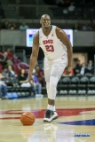 UNIVERSITY PARK, TX - NOVEMBER 28: Southern Methodist Mustangs forward Akoy Agau (23) dribbles during the game between SMU and UT Rio Grande Valley on November 28, 2017 at Moody Coliseum in Dallas, TX. (Photo by George Walker/Icon Sportswire)