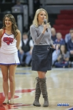 DALLAS, TX - DECEMBER 13: Brooke Williamson announces during the men's basketball game between SMU and New Orleans on December 13, 2017, at Moody Coliseum, in Dallas, TX. (Photo by George Walker/DFWsportsonline)
