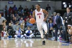 UNIVERSITY PARK, TX - DECEMBER 18: Southern Methodist Mustangs guard Shake Milton (1) brings the ball up court during the game between SMU and Boise State on December 18, 2017, at Moody Coliseum in Dallas, TX. (Photo by George Walker/DFWsportsonline)