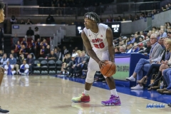 UNIVERSITY PARK, TX - DECEMBER 18: Southern Methodist Mustangs guard Elijah Landrum (20) during the game between SMU and Boise State on December 18, 2017, at Moody Coliseum in Dallas, TX. (Photo by George Walker/DFWsportsonline)