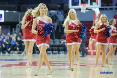 UNIVERSITY PARK, TX - DECEMBER 19: SMU Pom Squad performs during the game between SMU and Cal Poly State on December 19, 2017, at Moody Coliseum in Dallas, TX. (Photo by George Walker/DFWsportsonline)