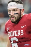 ARLINGTON, TX - DECEMBER 02: Oklahoma Sooners quarterback Baker Mayfield (6) looks on during the Big 12 Championship game on December 2, 2017 at AT&T Stadium in Arlington, TX. (Photo by George Walker/Icon Sportswire)