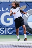 Dustin Brown (GER) in his semifinal singles match match at the Irving Tennis Classic in Irving, TX