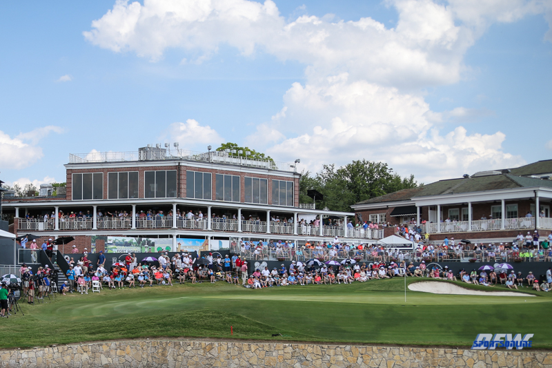 FORT WORTH, TX - MAY 27: View of 18th green at the Fort Worth Invitational on May 27, 2018 at Colonial Country Club in Fort Worth, TX. (Photo by George Walker/DFWsportsonline)
