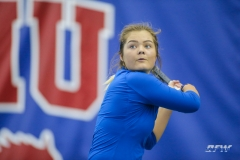 DALLAS, TX - JANUARY 13: Anzhelika Shapovalova during the SMU women's tennis Metroplex Mania tournament on January 13, 2018, at the SMU Tennis Complex, Turpin Stadium & Brookshire Family Pavilion in Dallas, TX. (Photo by George Walker/DFWsportsonline)