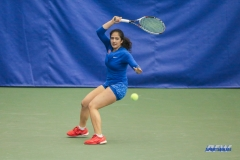 DALLAS, TX - JANUARY 13: Sarai Monarrez Yesaki during the SMU women's tennis Metroplex Mania tournament on January 13, 2018, at the SMU Tennis Complex, Turpin Stadium & Brookshire Family Pavilion in Dallas, TX. (Photo by George Walker/DFWsportsonline)