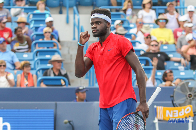 CINCINNATI, OH - Frances Tiafoe (USA) during the Western & Southern Open at the Lindner Family Tennis Center in Mason, Ohio on August 16, 2017, (Photo by George Walker/DFWsportsonline