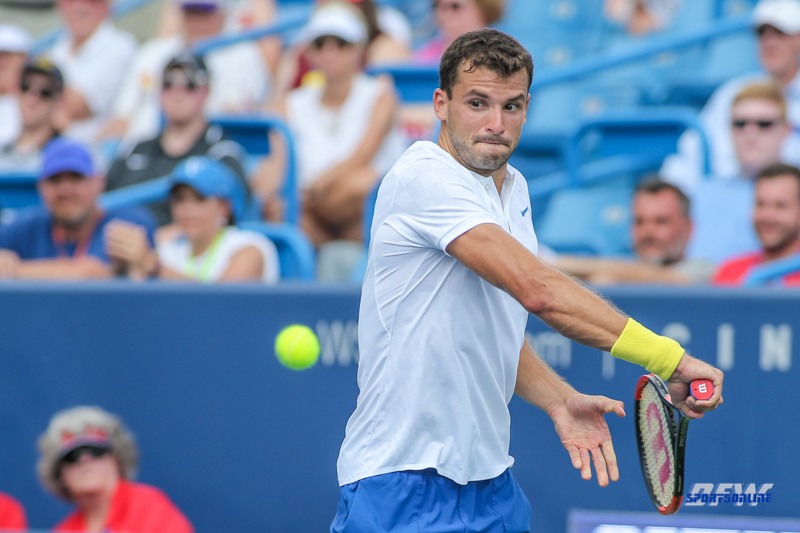 CINCINNATI, OH - Grigor Dimitrov (BUL) during the Western & Southern Open at the Lindner Family Tennis Center in Mason, Ohio on August 16, 2017, (Photo by George Walker/DFWsportsonline