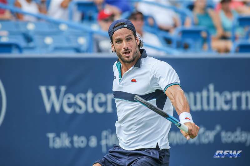CINCINNATI, OH - Feliciano Lopez (ESP) during the Western & Southern Open at the Lindner Family Tennis Center in Mason, Ohio on August 16, 2017, (Photo by George Walker/DFWsportsonline