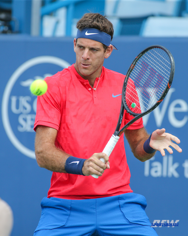 CINCINNATI, OH - Juan Martin Del Potro (ARG) during the Western & Southern Open at the Lindner Family Tennis Center in Mason, Ohio on August 16, 2017, (Photo by George Walker/DFWsportsonline