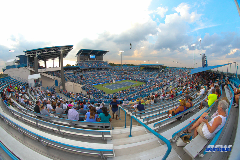 CINCINNATI, OH - View of Center Court during the Western & Southern Open at the Lindner Family Tennis Center in Mason, Ohio on August 16, 2017, (Photo by George Walker/DFWsportsonline