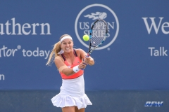 CINCINNATI, OH - Dominika Cibulkova (SVK) during the Western & Southern Open at the Lindner Family Tennis Center in Mason, Ohio on August 16, 2017, (Photo by George Walker/DFWsportsonline