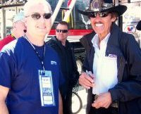 DFWSportsOnline's George Walker with Richard Petty. photo by Bruce Cameron